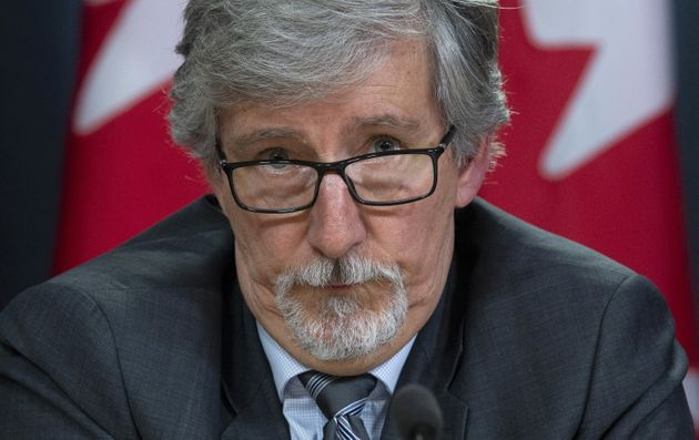 Privacy Commissioner Daniel Therrien speaks during a news conference on April 25, 2019 in