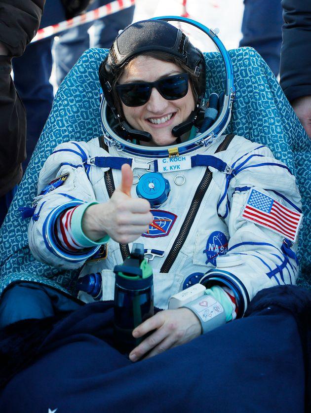 Koch retornou da Estação Espacial Internacional, em segurança, na quinta-feira (6)...