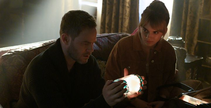 "Aaron Ashmore and Emilia Jones in ""Locke & Key."""