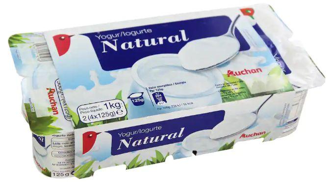 Yogur natural de Alcampo.