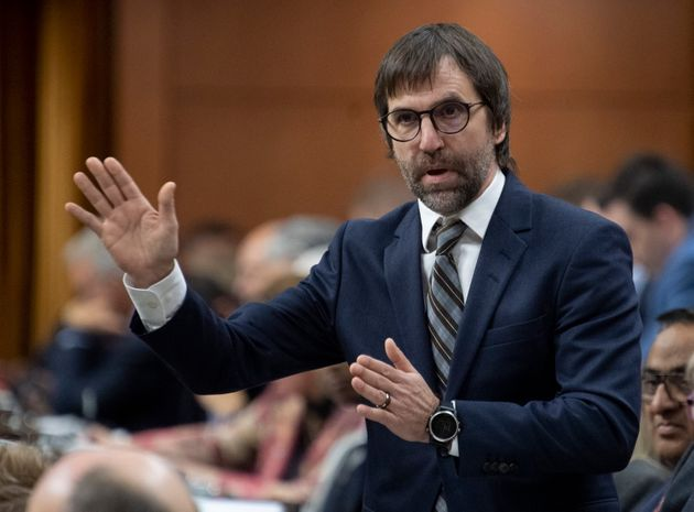 Minister of Canadian Heritage Steven Guilbeault responds to a question during Question Period in the...