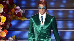 Achille Lauro vestito da David Bowie sveglia l'Ariston: