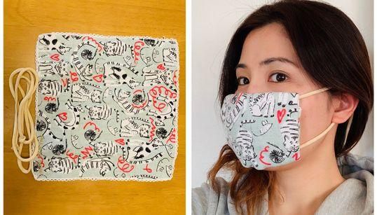 3分でできるマスクの作り方 超簡単【手順の動画あり】