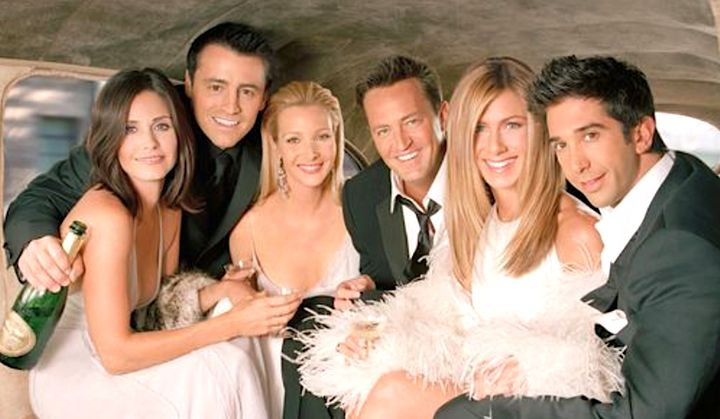 """The cast of """"Friends,"""" pictured in season 10, is close to tying the knot on a reunion special."""