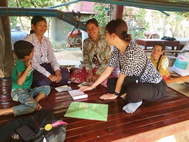 カンボジアで活動する大村さん