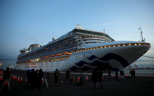 The cruise ship Diamond Princess is seen here on Friday in Yokohama, Japan. The vessel was carrying more...