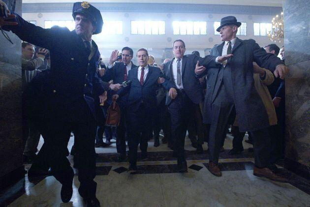 El sindicalista Jimmy Hoffa (Al Pacino) y el asesino a sueldo Frank Sheeran (Robert de Niro).