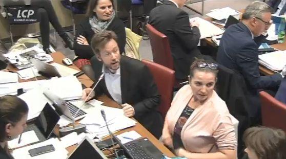 Boris Vallaud, député socialiste, lors de l'examen du projet de loi retraites à l'Assemblée