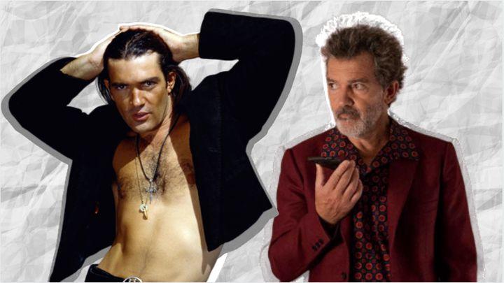 Antonio Banderas en 'Desperado' (1995) y en 'Dolor y gloria' (2019).