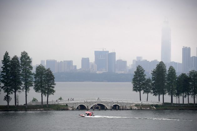 Wuhan's East Lake is a popular destination for families.