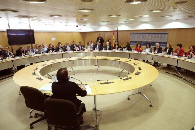 Vista general de la reunión del Consejo de Política Fiscal y Financiera (CPFF), presidida...