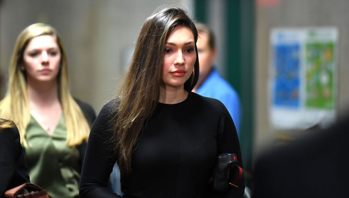 Former actress Jessica Mann arrives for the trial of Harvey Weinstein at the Manhattan Criminal Court, on Jan. 31, 2020 in Ne