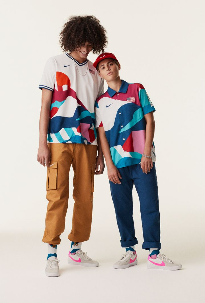 Nike released its Olympic uniforms, including these two for the U.S. skateboarding team, and suddenly we want to take up the sport.