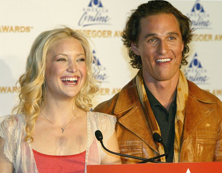 """Kate Hudson and Matthew McConaughey, stars of """"How to Lose a Guy in 10 days,"""" appear in New York on Feb. 3, 2003."""