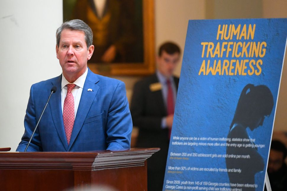 In January, Georgia Gov. Brian Kemp announced a statewide anti-trafficking campaign. While the state...