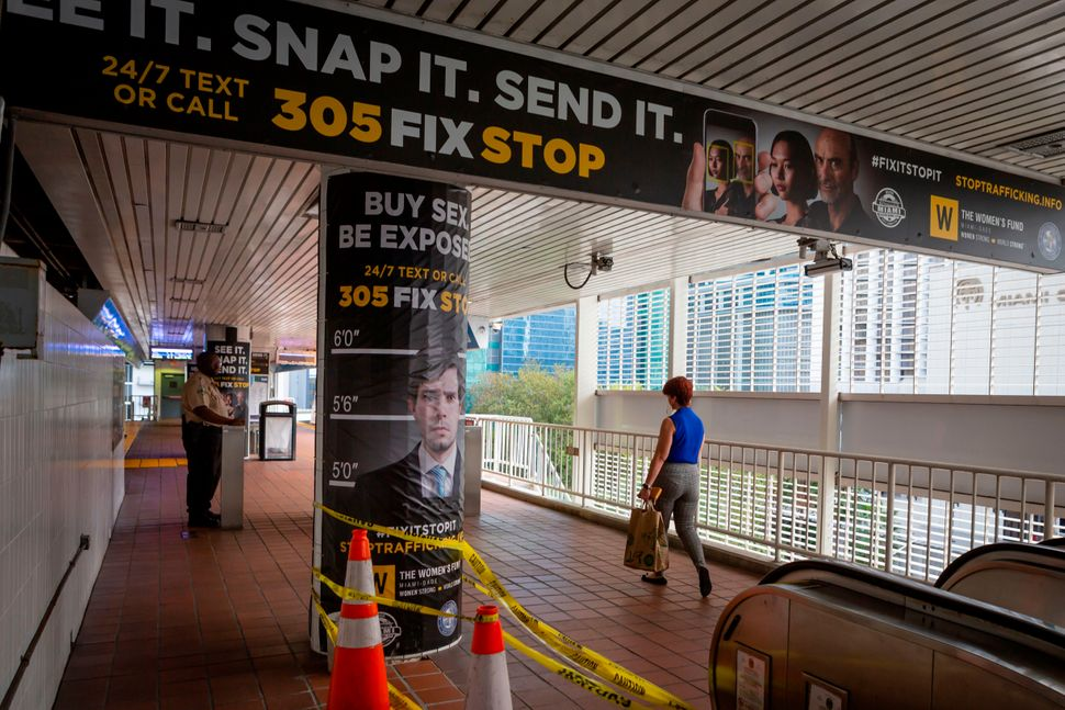 Miami launched a city-wide anti-trafficking campaign to coincide with the 2020 Super Bowl. There is no...