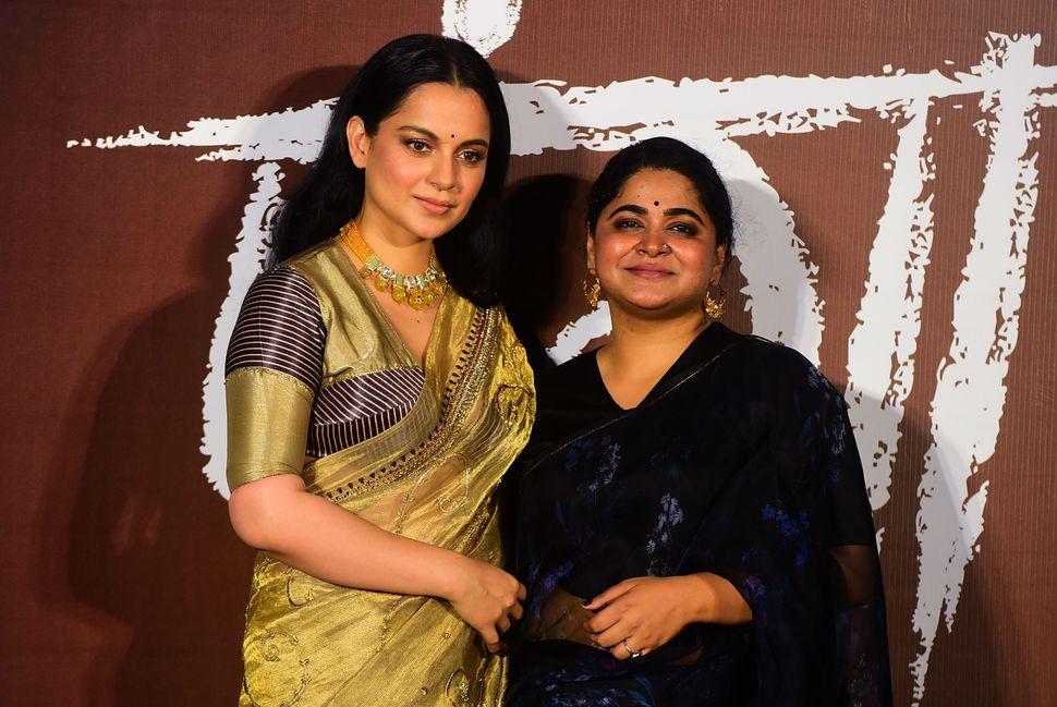 Kangana Ranaut poses for photographs during the trailer launch of Panga, directed by Ashwiny Iyer Tiwari (R), in Mumbai on December 23, 2019.