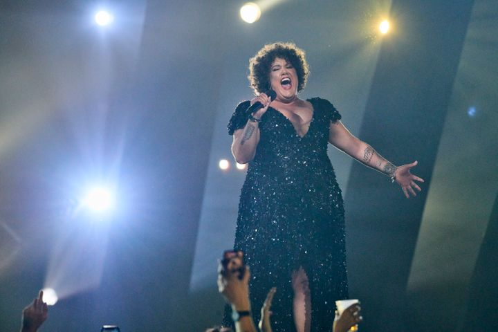 Indigenous artist Casey Donovan performed at Eurovision - Australia Decides on Friday February 7 on the Gold Coast.