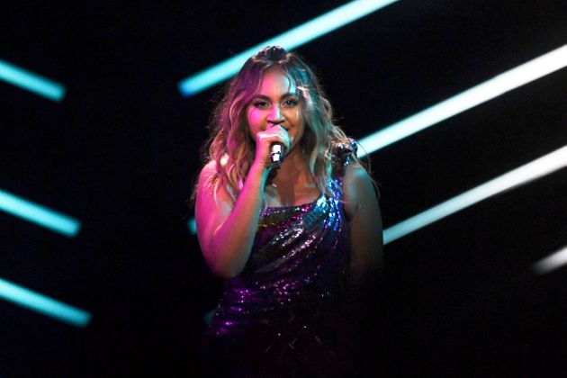 Jessica Mauboy performed during the final of the 63rd edition of the Eurovision Song Contest 2018 at...