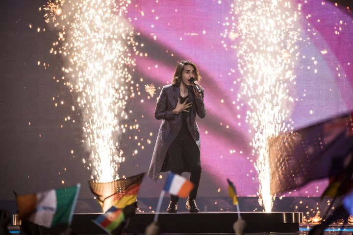 Isaiah Firebrace performed at the Eurovision Grand Final in 2017.