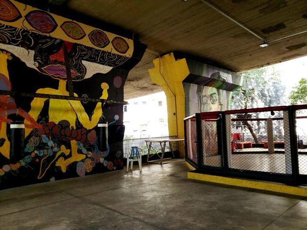 Grafite, cor e lazer deram vida a local onde grassavam a pobreza e a