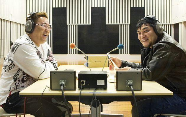 「サンドウィッチマン」の伊達みきおさん(左)と富澤たけしさん