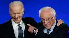 Sanders Und Biden Hug It Out An der Debatte In Schlag Bei Hillary Clinton die Angriffe