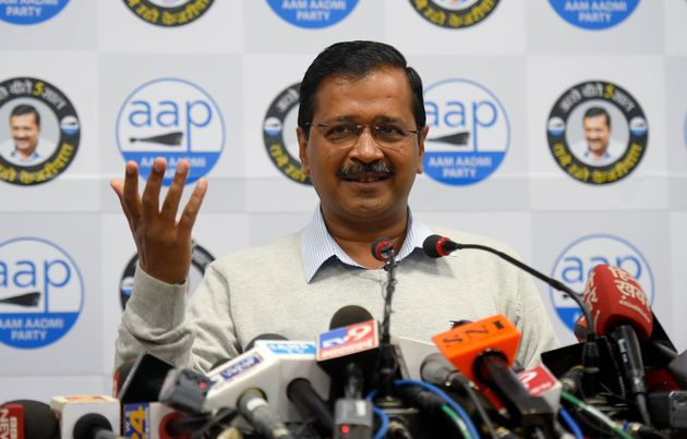 Delhi Chief Minister Arvind Kejriwal at a press conference at AAP Party office, ITO, on February 5, 2020...