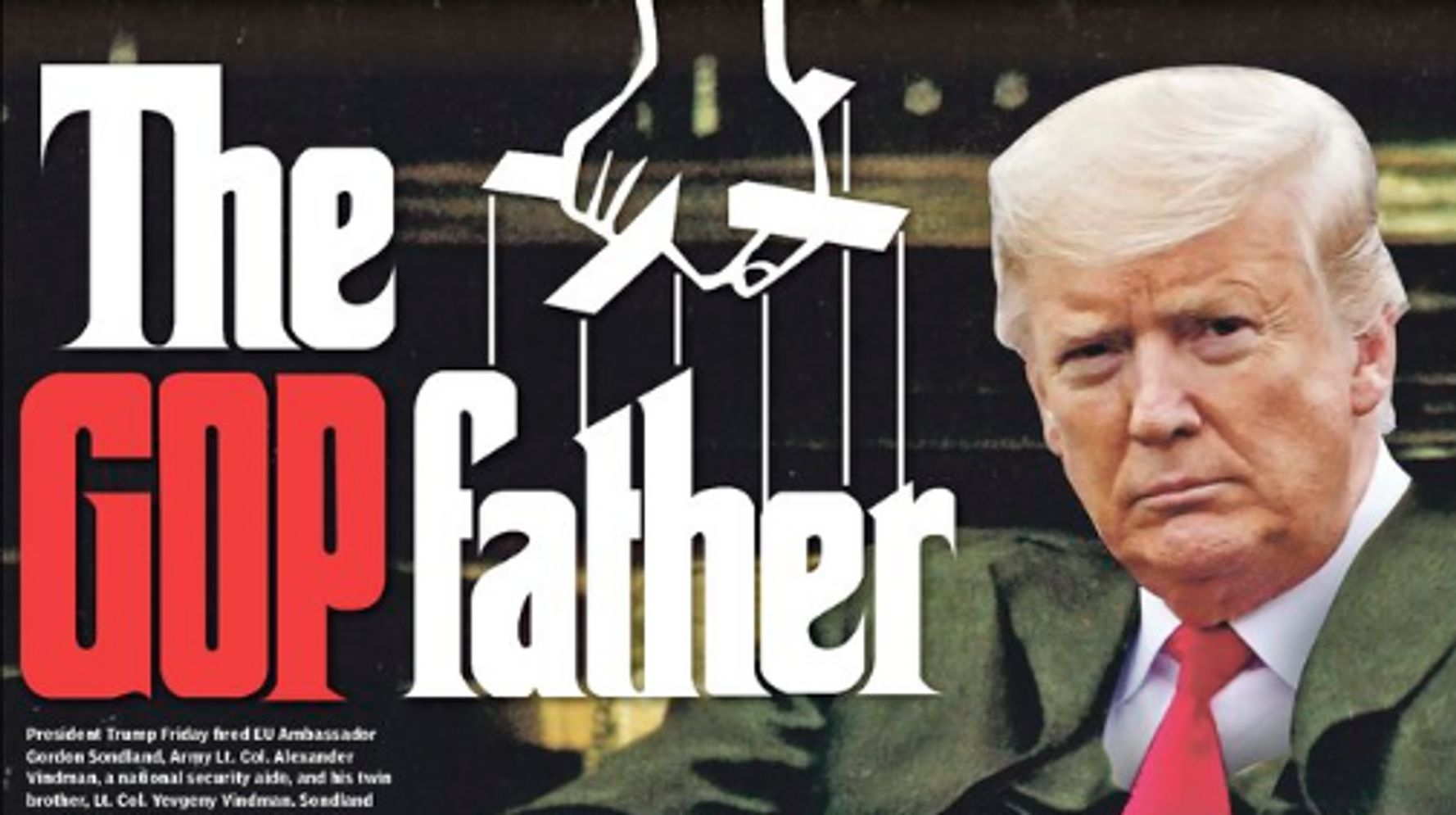 New York Daily News Slaps Trump With A Searing Mob Movie Nickname