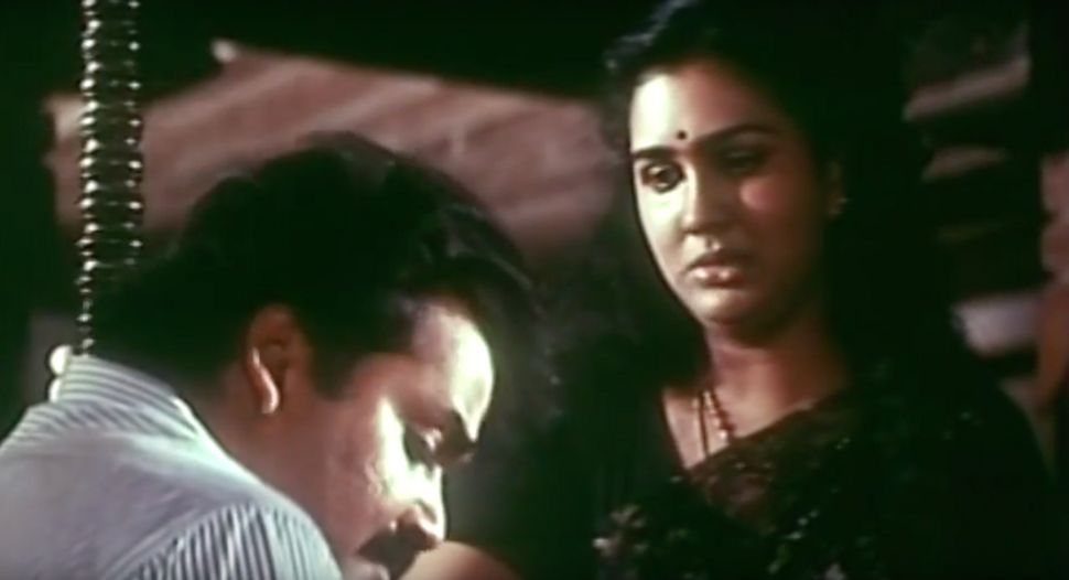 Urvashi and Mohanlal in 'Bharatham' (1991)