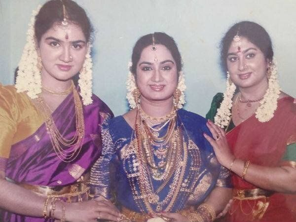 Urvashi with her sisters Kalpana and