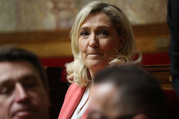 Marine Le Pen à l'Assemblée nationale le 24