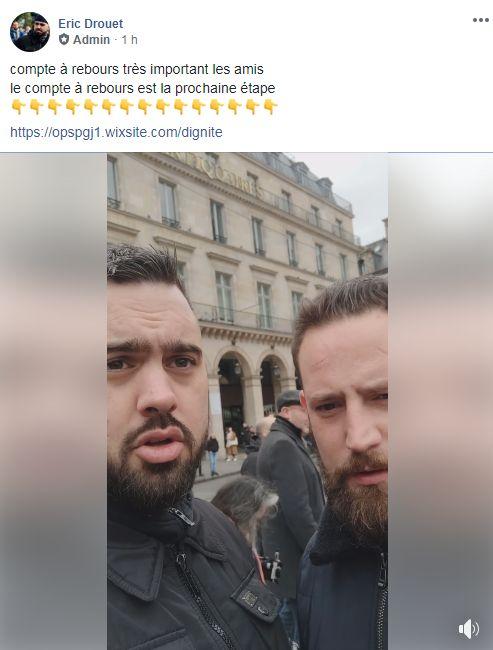 Capture de la vidéo Facebook publiée par Éric