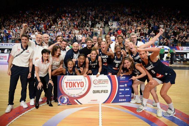 Les basketteuses françaises se qualifient pour les Jeux Olympiques 2020à Tokyo en battant le Brésil ce...
