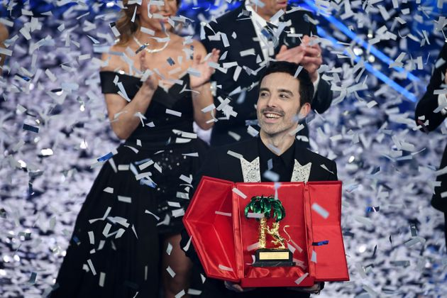 SANREMO, ITALY - FEBRUARY 08: Diodato is awarded at the 70° Festival di Sanremo (Sanremo Music Festival)...