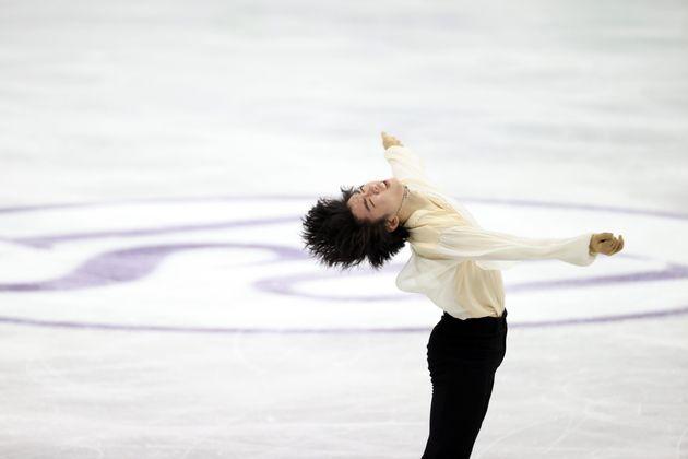 대한민국 차준환이 9일 서울 양천구 목동아이스링크에서 열린 2020 국제빙상경기연맹(ISU) 4대륙 피겨선수권대회 남자 싱글 프리스케이팅에서 연기를 선보이고
