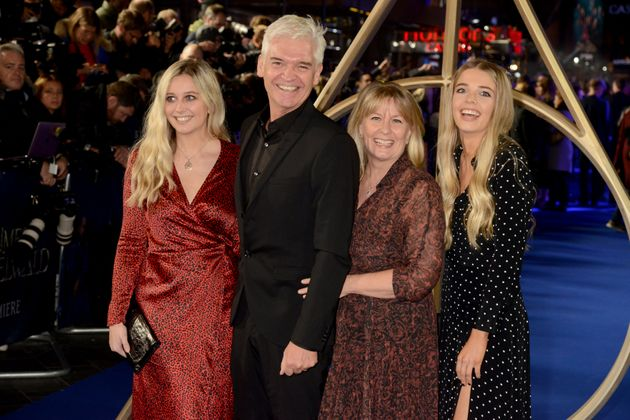 Phillip said his wife and daughters Molly (left) and Ruby had been