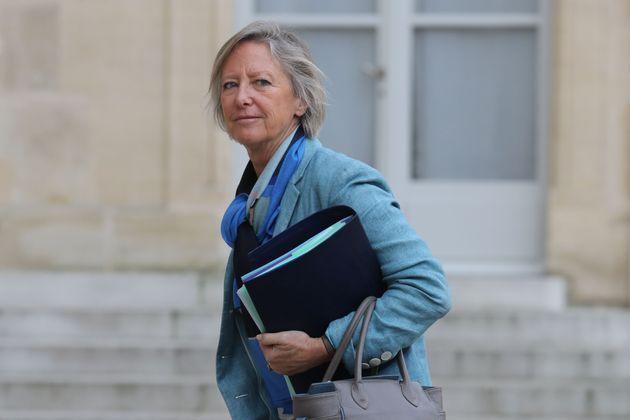 Sophie Cluzel dans la cour de l'Élysée le 15