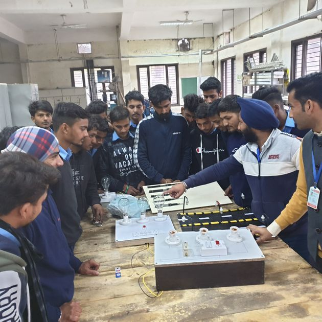 Majority of the students getting training at theBaddi Infrastructure and Technical training Institute...