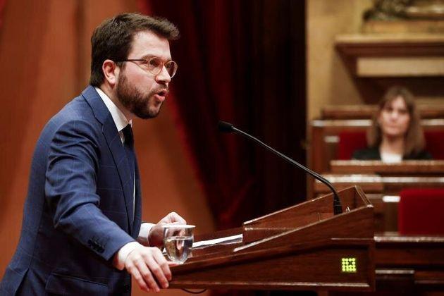 El vicepresidente del Govern y conseller de Economía, Pere Aragonès, interviene en el debate monográfico...