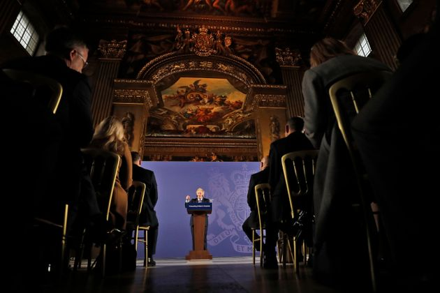 Johnson outlined his government's negotiating stance during a key speech at the Old Naval College in...