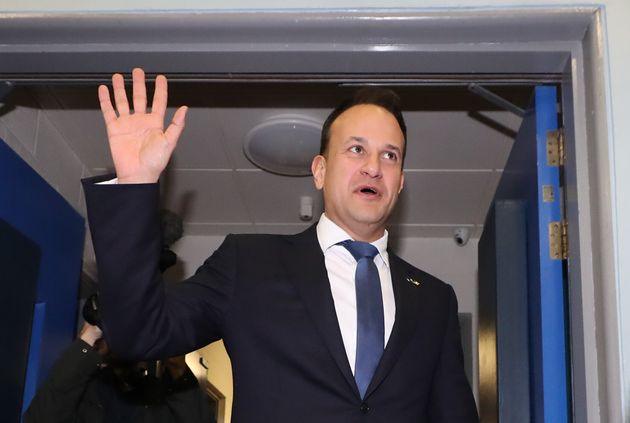 Fine Gael leader Leo Varadkar as he arrives for the count at Phibblestown Community Centre in