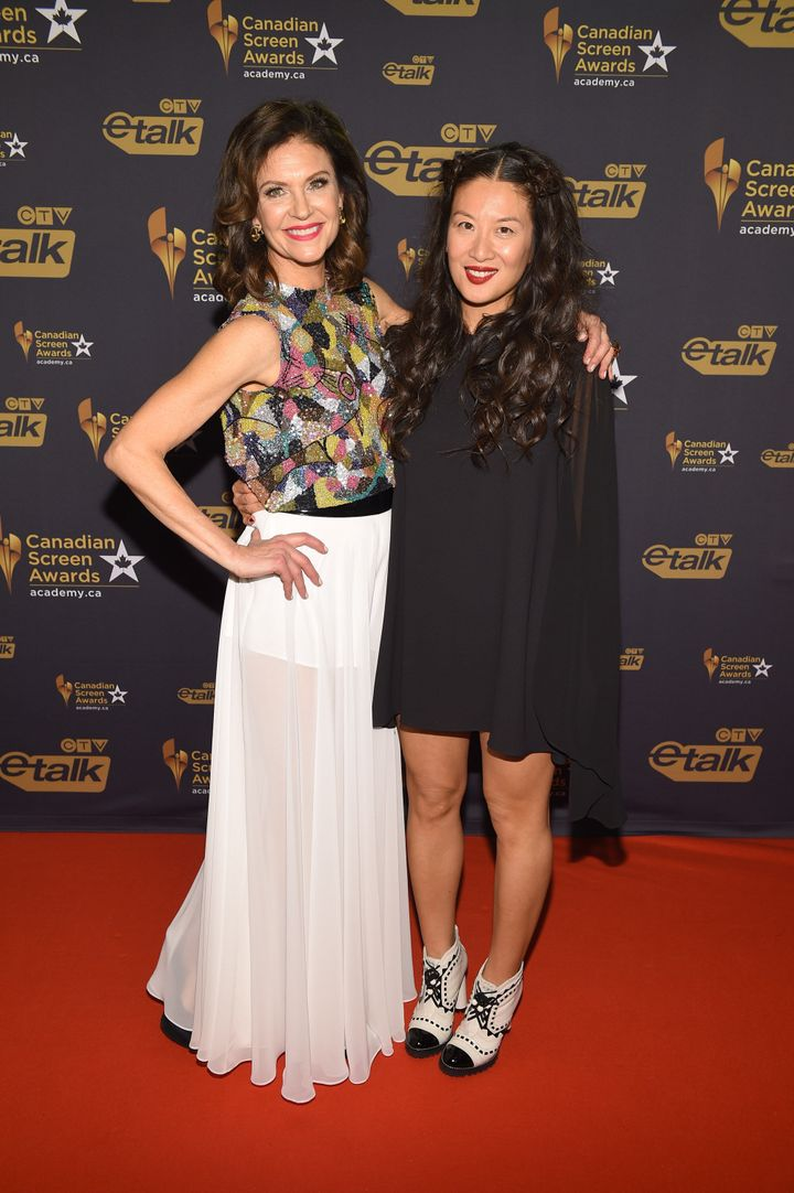 Wendy Crewson and Lainey Lui at the Canadian Screen Awards on March 9, 2016 in Toronto.