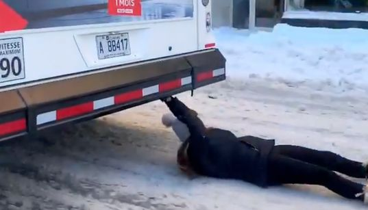 Don't Try This At Home! Montreal Police Investigate 'Bus Surfing'
