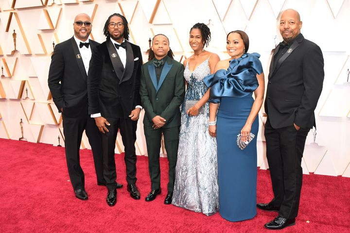 DeAndre Arnold joined the Oscars red carpet with his mother, Sandy Arnold, and the team behind the Oscar-nominated short anim