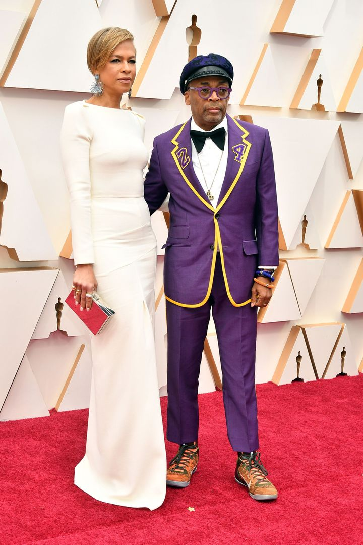 Tonya Lewis Lee and filmmaker Spike Lee attend the 92nd Annual Academy Awards on Feb. 9 in Hollywood, California.
