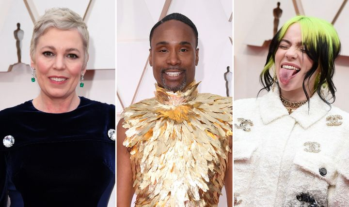 Olivia Colman. Billy Porter and Billie Eilish