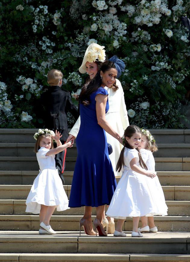 Jessica Mulroney and daughter Ivy at St George's Chapel at Windsor Castle for Prince Harry and Meghan...
