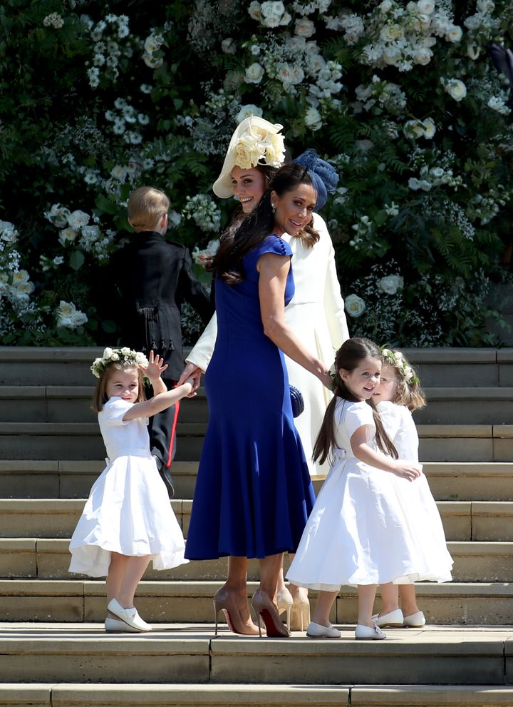 Jessica Mulroney and daughter Ivy at St George's Chapel at Windsor Castle for Prince Harry and Meghan Markle's wedding in May, 2018.