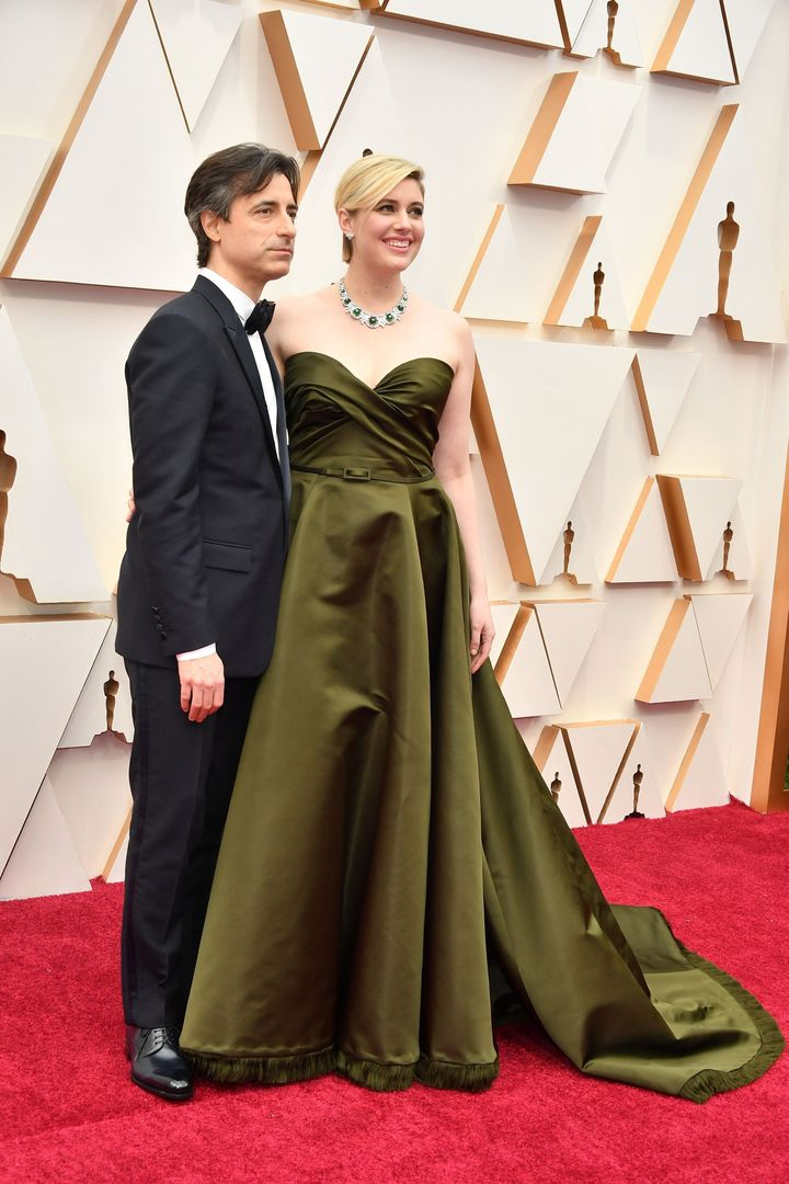 HOLLYWOOD, CALIFORNIA - FEBRUARY 09: (L-R) Noah Baumbach and Greta Gerwig attend the 92nd Annual Academy Awards at Hollywood and Highland on February 09, 2020 in Hollywood, California. (Photo by Amy Sussman/Getty Images)